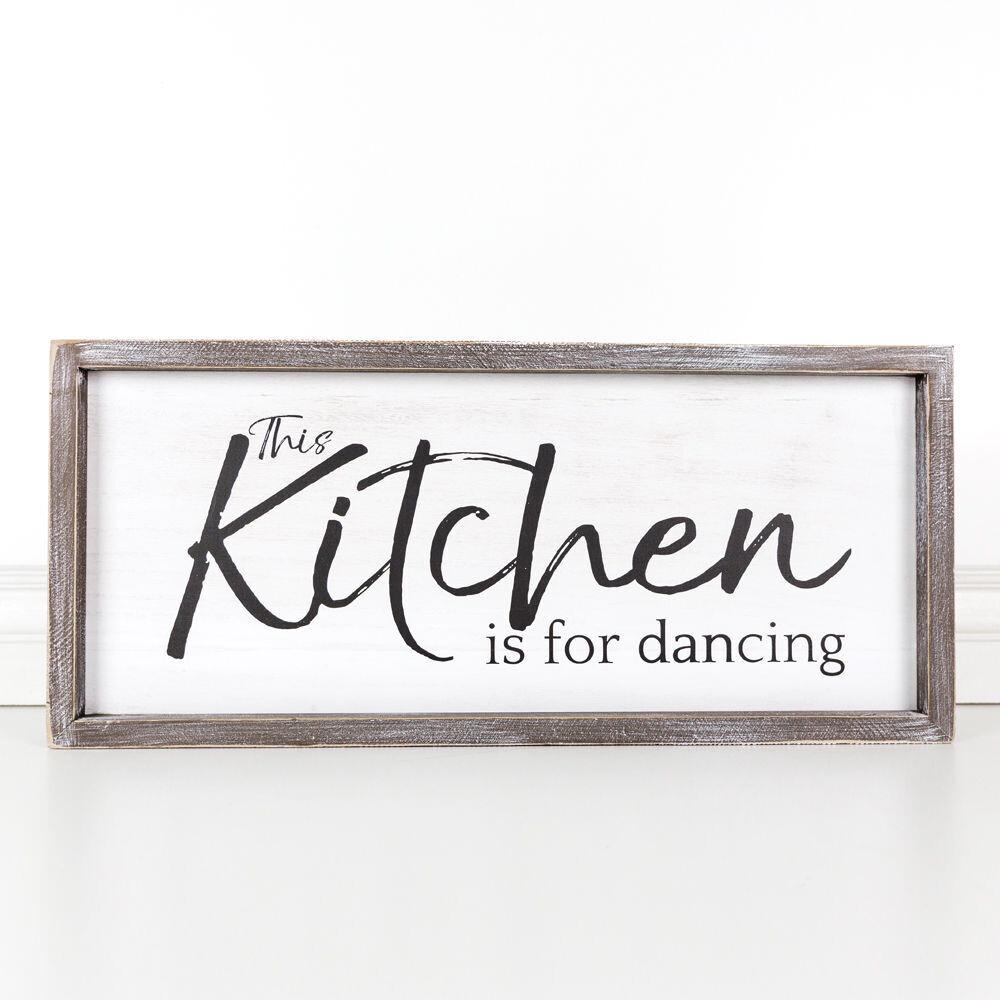 Kitchen Is For Dancing Framed Sign