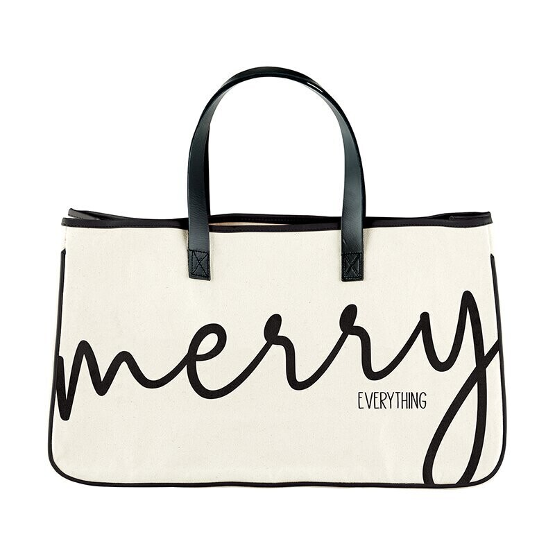 Merry Canvas Tote