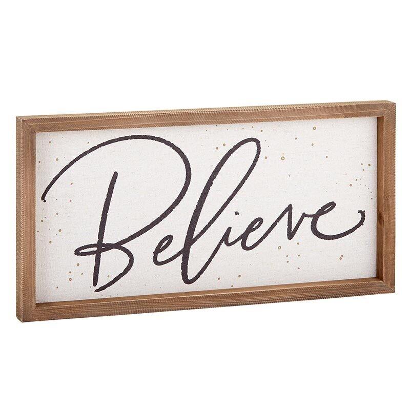 Believe Framed Wall Decor