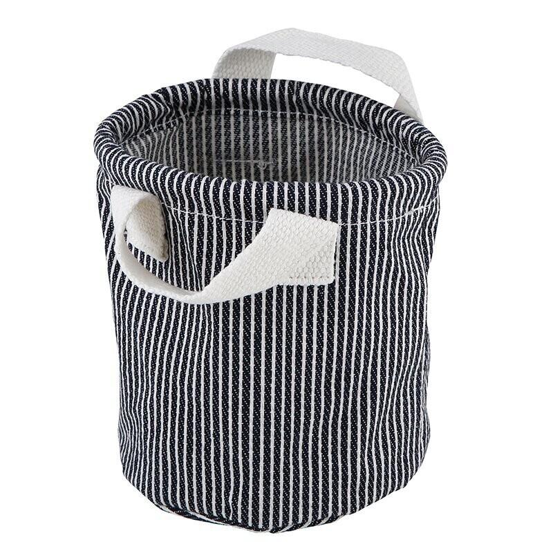 Sm Denim Striped Canvas Organizer