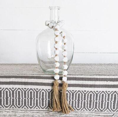 White Geo Beads
