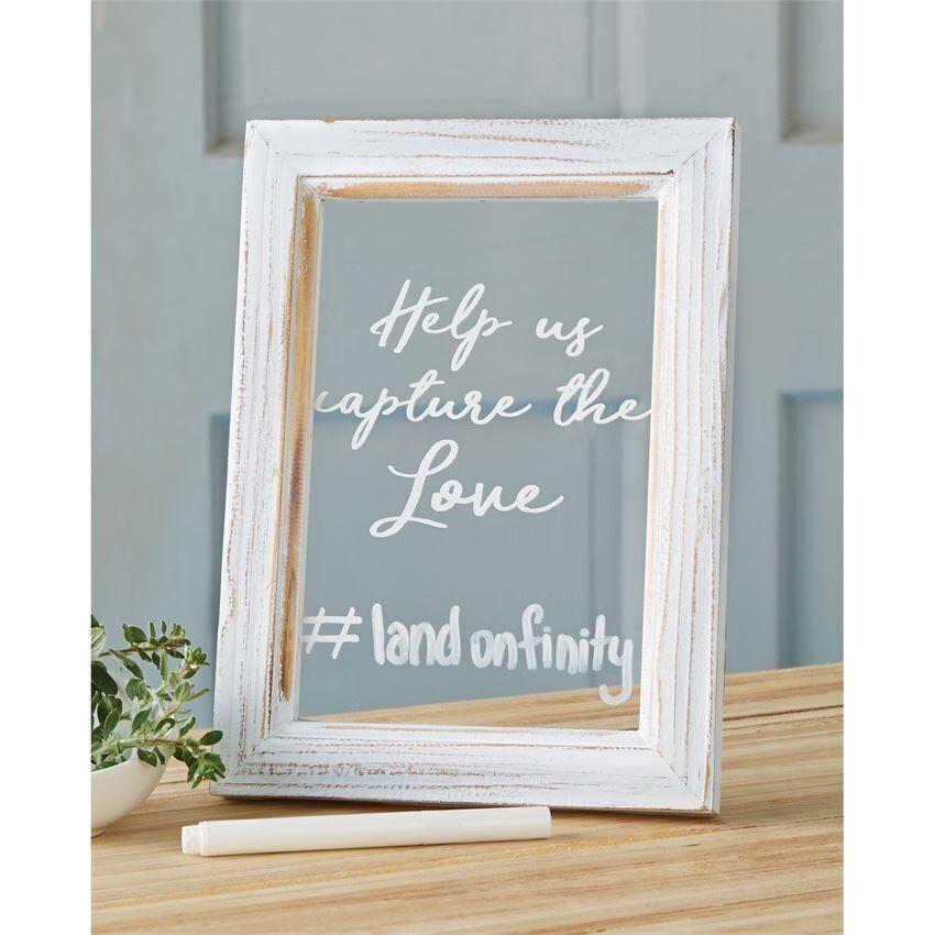 Clear Wedding Hashtag Sign
