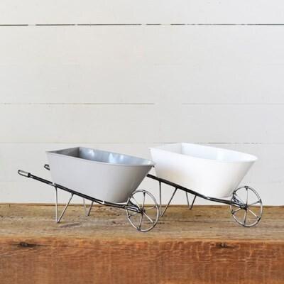 White Wheelbarrow