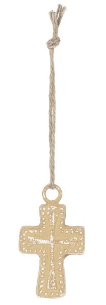 Sm Terra Cotta Hanging Cross