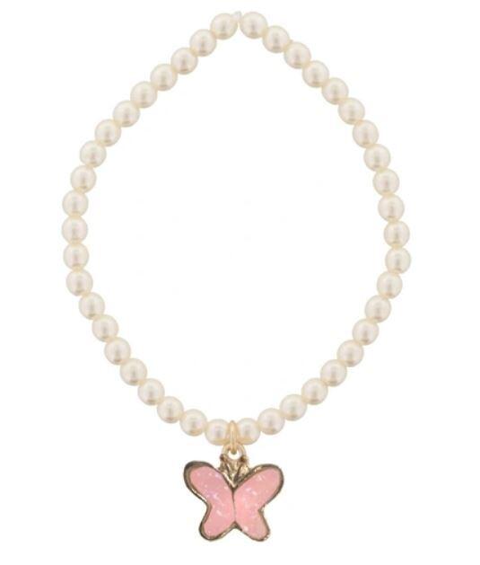 Kids Pearl Butterfly Bracelet