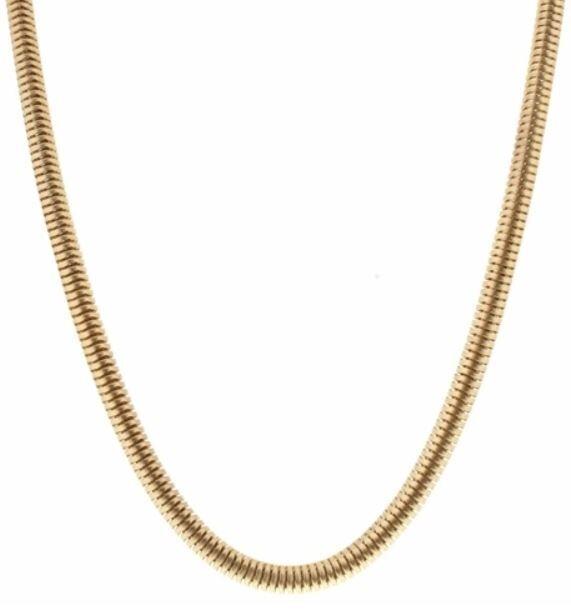Gold Z Snake Chain Necklace