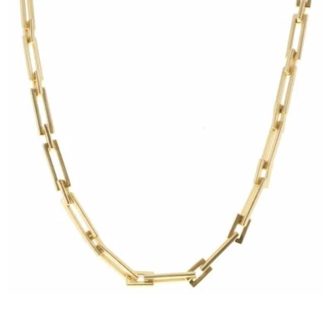 Rectangle Chain Link Necklace