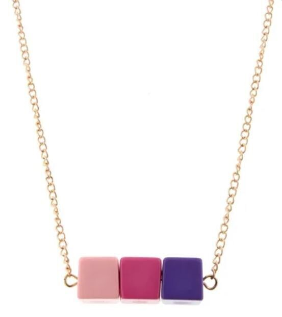 Kids Purple Color Block Necklace