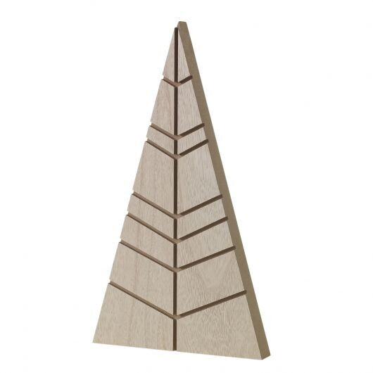 Lg Wooden Triangle Tree