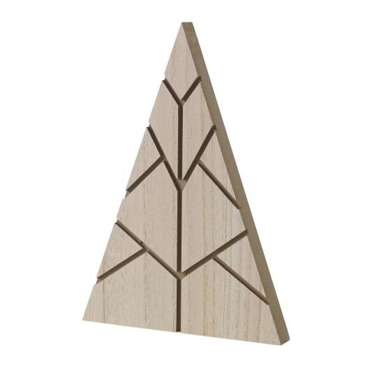 Med Wooden Triangle Tree