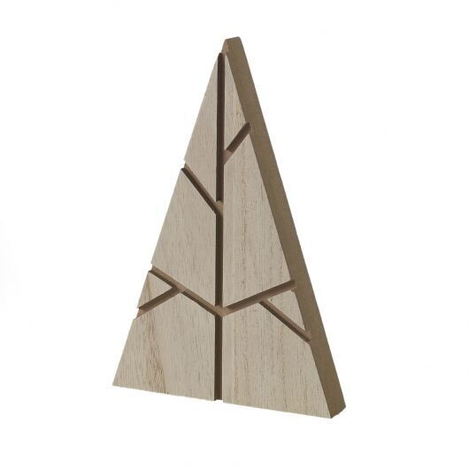 Sm Wooden Triangle Tree