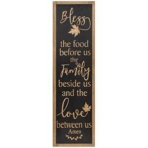 Bless The Food Engraved Wooden Sign