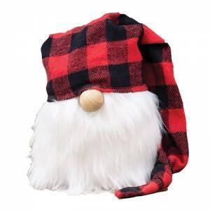 Red Buffalo Check Cap Gnome
