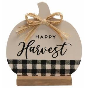 Happy Harvest Buffalo Check Pumpkin