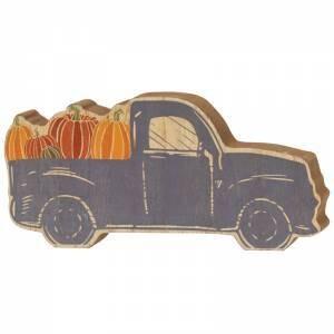 Chunky Blue Pumpkin Truck Sitter