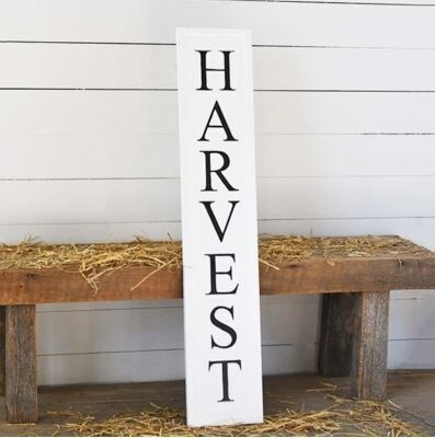 Tin Pressed Harvest Sign