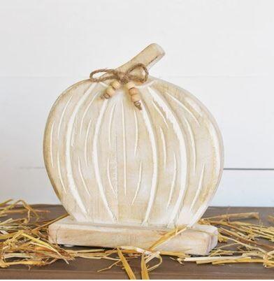 Wood Tabletop Pumpkin