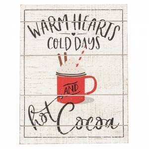 Warm Hearts Hot Cocoa Pallet Easel Sign