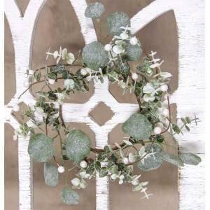 Glitter Frosted Eucalyptus Mini Wreath