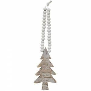 Distressed Wooden Tree Ornament