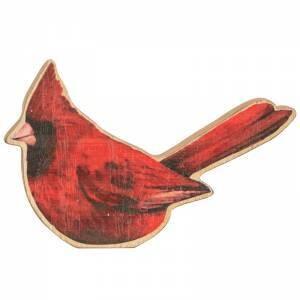 Chunky Wood Cardinal Sitter
