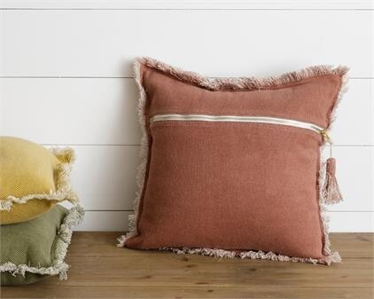 Red Stone Washed Pillow