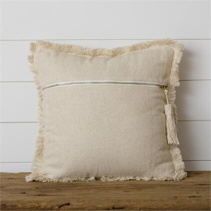 Cream Stone Washed Pillow