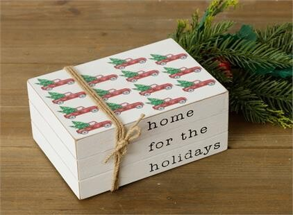 Home For The Holidays Stamped Books