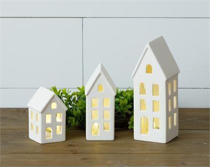 Sm White Lighted House