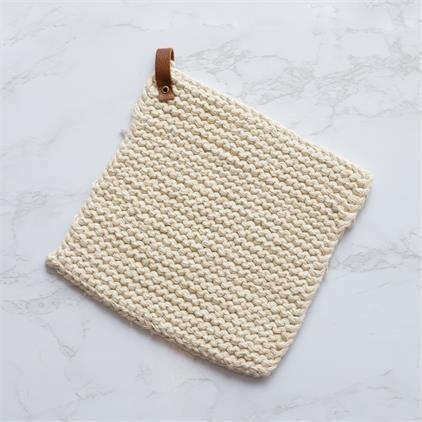 Cream Crocheted Pot Holder