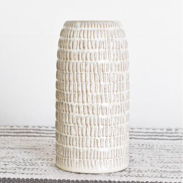 Cross Pattern Vase