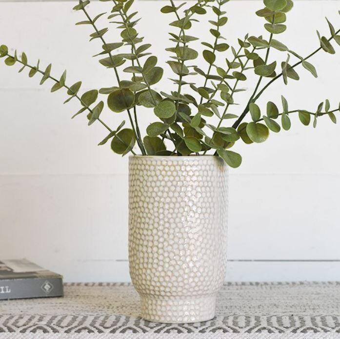 White Speckled Vase
