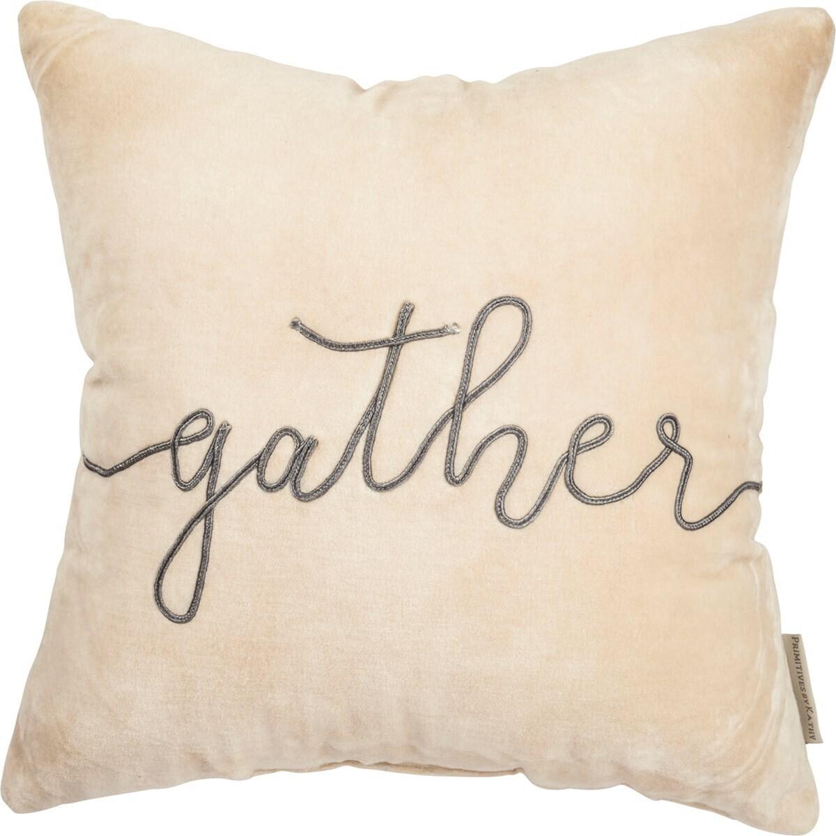 Velvet Gather Pillow