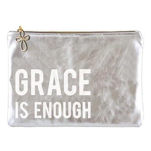 Silver Grace is Enough Zipper Pouch