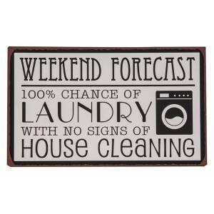 Weekend Forecast Metal Sign