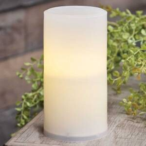 Warm Light White Pillar Candle, 6 inches
