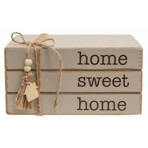 Home Sweet Home Wood Bookstack
