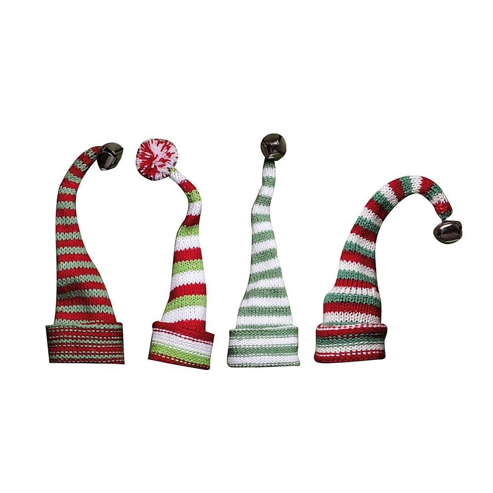 Striped Knit Hat Bottle Topper