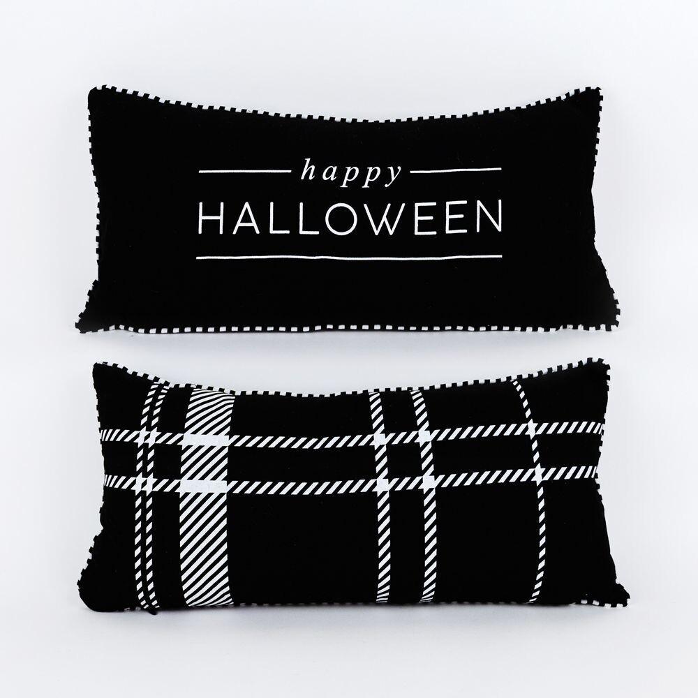 Reversible Happy Halloween Pillow