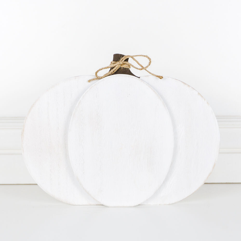 Double Sided White Layered Pumpkin
