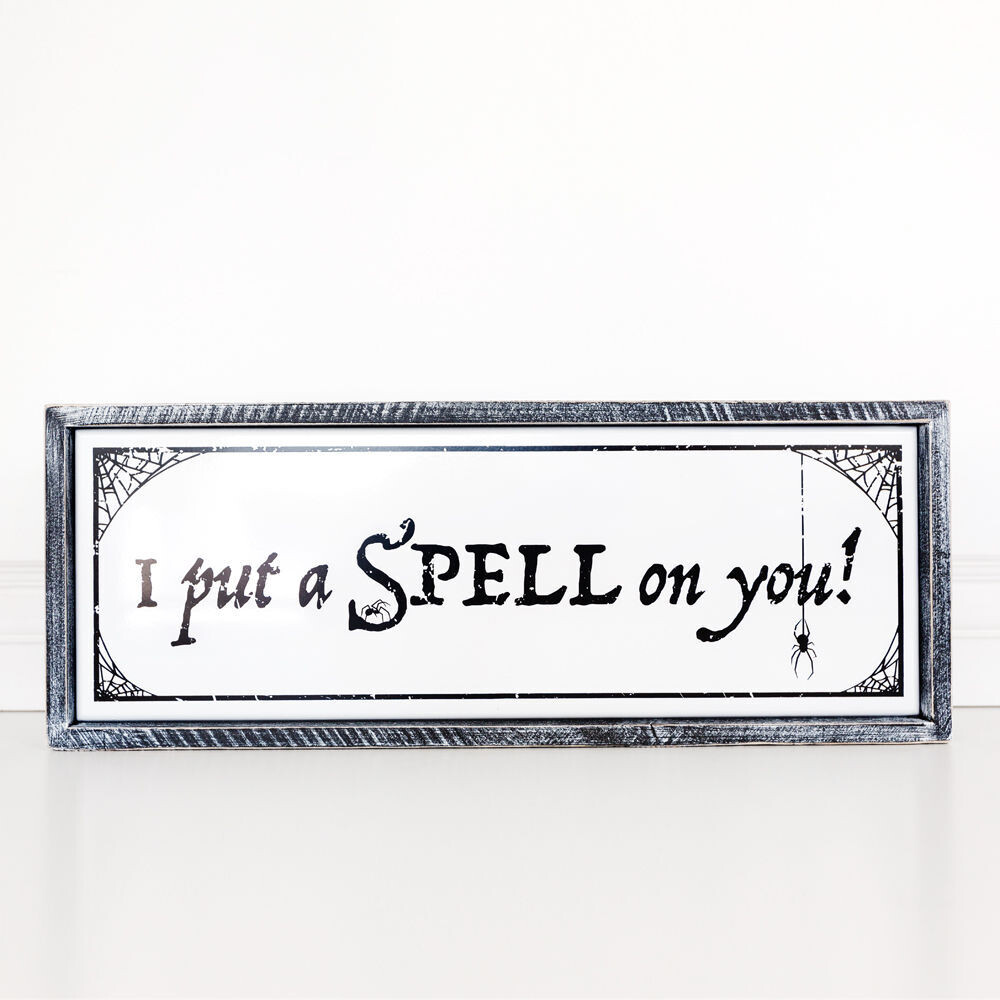 Spell On You Framed Sign