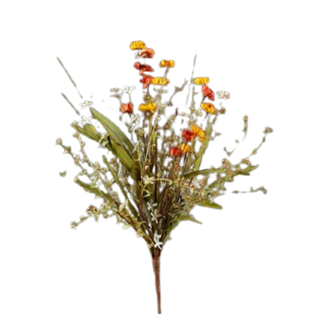 Mini Mums & Fall Grass Branch