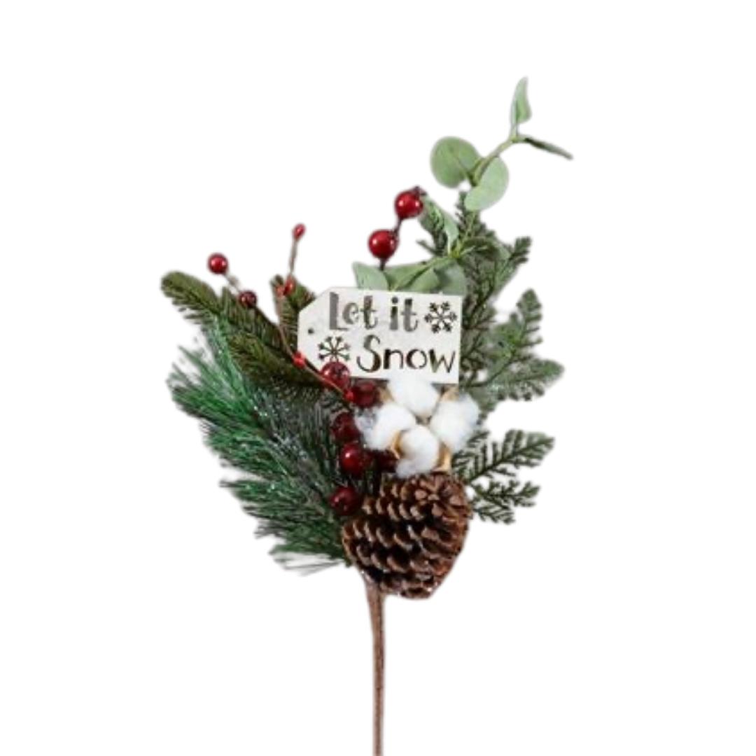 Let It Snow Festive Branch
