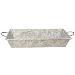 Galvanized Metal Tray W/ Handles