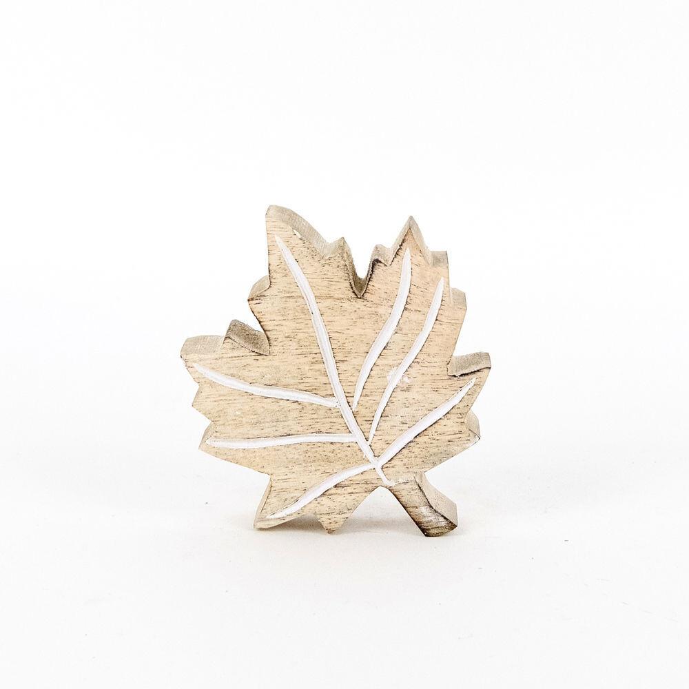 Mango Wood Leaf Cutout
