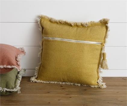 Mustard Stone Washed Pillow