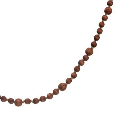 Brown Wood Bead Garland