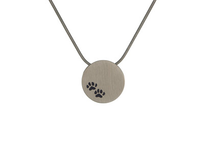 "Bronze with Paw Prints - includes 19"" chain"