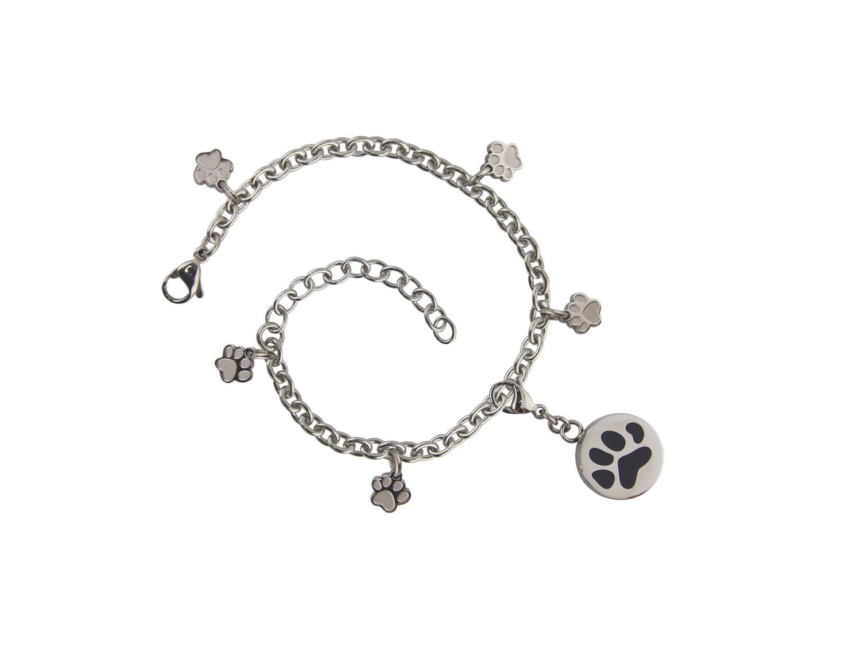 Charm Bracelet Paw Pewter (bracelet only)