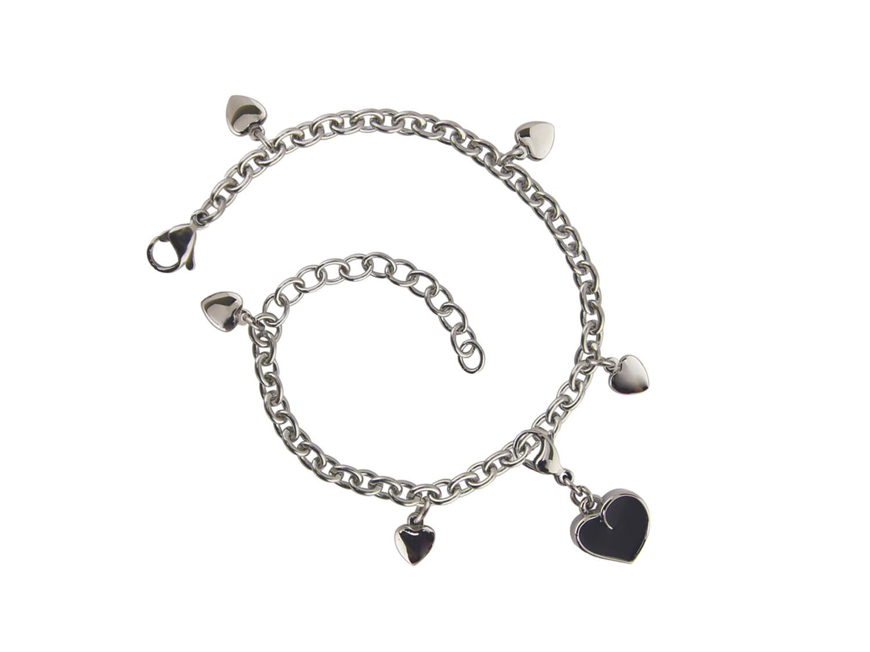 Charm Bracelet Heart Pewter (bracelet only)